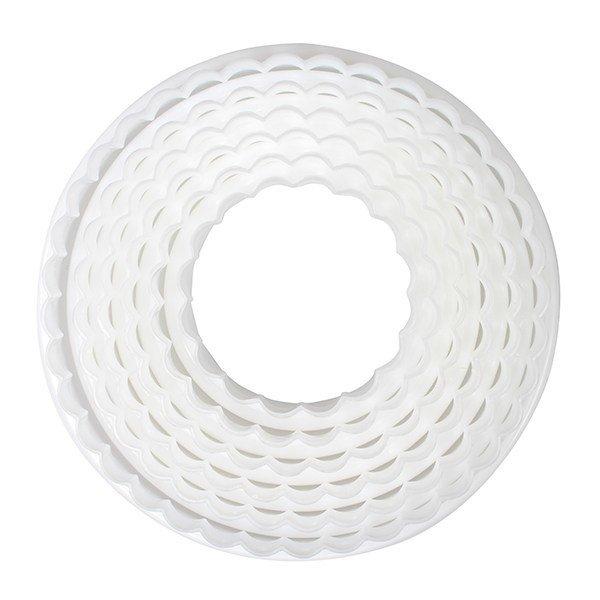 Cake Star Cutters -Set of 6 PLAIN & FLUTED CIRCLES- Σετ 6 τεμ κουπ πατ Ίσιοι και Κυματιστοί Κύκλοι