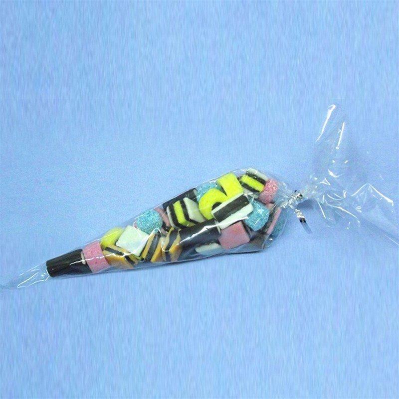 Culpitt Bags -Clear Sweet Cones With Ties - 50τεμ Διάφανα Σακουλάκια σε Σχήμα Κώνου με Σχοινάκι Δεσίματος