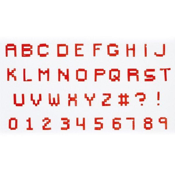 FMM Alphabet Tappit -PIXEL UPPERCASE & Numbers - Κουπ πατ Λατινικό Αλφάβητο -Κεφαλαία Γράμματα & Αριθμοί