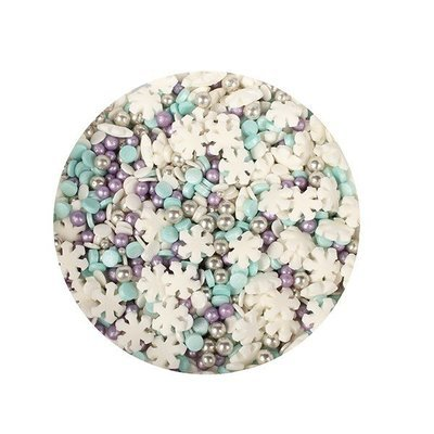 Purple Cupcakes Sprinkle Mix -SNOWSTORM MIX - Μείγμα Ζαχαρωτών Χρώματα Χιονοθύελλας 100γρ