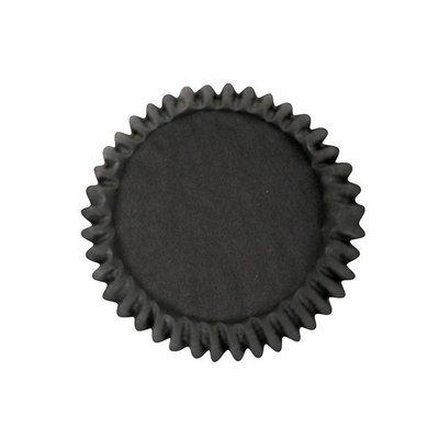 Cake Star Cupcake Cases -PLAIN BLACK - Θήκες Ψησίματος - Μαύρες 54 τεμ