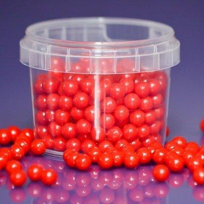 Purple Cupcakes Sugarballs -RED PEARL 7mm -Κόκκινες Βρώσιμες Πέρλες 90γρ