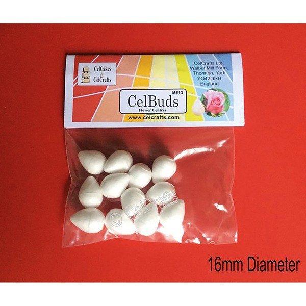 CelBuds Polystyrene Flower Buds 16mm -Μπουμπούκια Λουλουδιών Πολυστερίνης 12 τεμ ∞