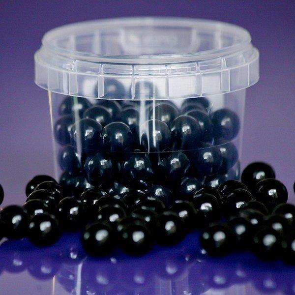Purple Cupcakes Sugarballs -BLACK 10mm -Βρώσιμες Πέρλες Μαύρες 10χιλ, 80γρ ∞