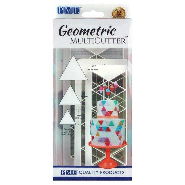 SALE!!! PME Geometric Multicutters -Set of 3 -EQUILATERAL TRIANGLE - Σετ 3τεμ Πολλαπλό Κουπ πατ Ισόπλευρο Τρίγωνο