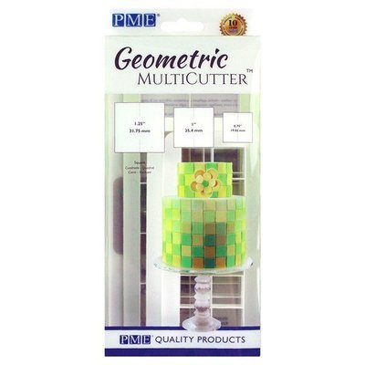PME Geometric Multicutters -Set of 3 -SQUARES - Σετ 3τεμ Πολλαπλό κουπ πατ Τετράγωνο