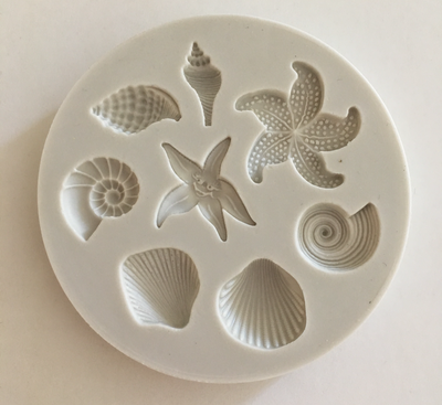 # Mould - Shells & Starfish - Καλούπι Σιλικόνης Κοχύλια και Αστερίες - Περίπου 6εκ
