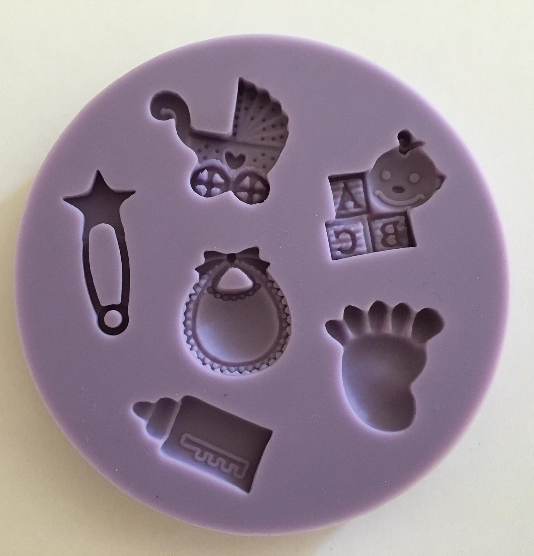 # Mould - Baby Designs - Καλούπι Σιλικόνης Μωρουδίστικα Σχέδια - Περίπου 6εκ