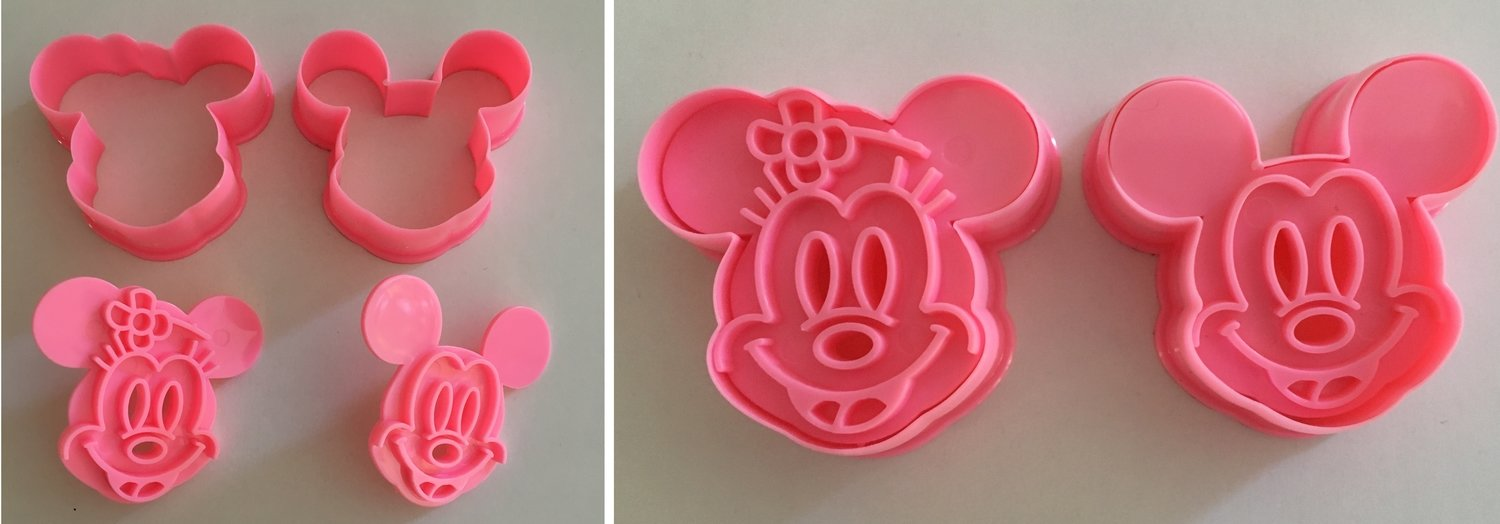# Mickey & Minnie Mouse Cutters & Embossers - Κουπ πατ με Εκβολεά - Μίκι & Μίνι - 3x2εκ