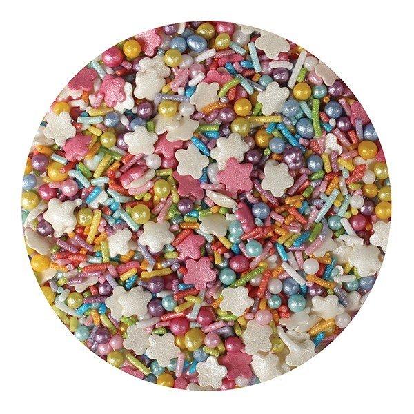 Purple Cupcakes Sprinkle Mix -RAINBOW MIX -100γρ - Μείγμα Ζαχαρωτών Χρώματα Ουράνιου Τόξου