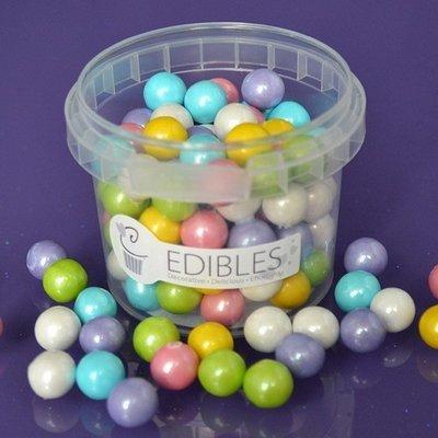 Purple Cupcakes Sugarballs -RAINBOW COLOURED 10mm -Βρώσιμες Πέρλες Πολύχρωμες 10χιλ, 80γρ