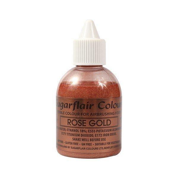 Sugarflair Airbrush Colour -METALLIC ROSE GOLD -Χρώμα Αερογράφου Μεταλλικό Ροζ Χρυσό