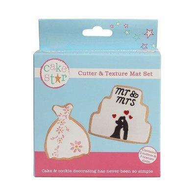 SALE!!! Cake Star Cutter & Texture Mat Set -WEDDING DRESS & CAKE -Κουπ πατ Νυφικό & Γαμήλια Τούρτα -Σετ 3 Τεμαχίων