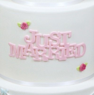 SALE!!! FMM -Curved Words Cutter -'JUST MARRIED' -Κουπ πατ 'JUST MARRIED'