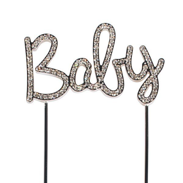 SALE!!! Cake Star Topper Diamante -BABY -Τόπερ με Διαμαντάκια 'BABY'