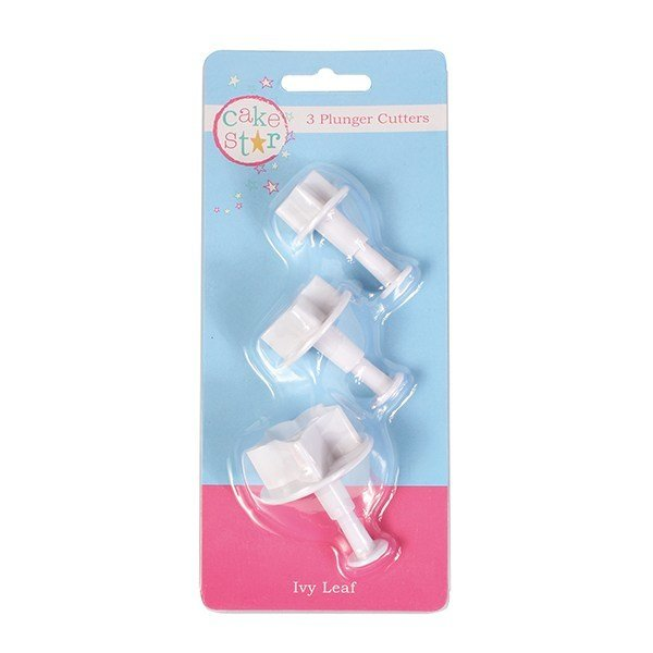 SALE!!! Cake Star Plunger Cutters -IVY - Σετ 3τεμ κουπ πατ Κισσός με Εκβολέα