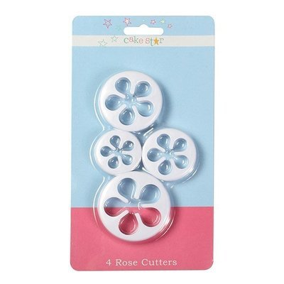 Cake Star Cutters -ROSE Set of 4 - Σετ 4 τεμ κουπ πατ Τριαντάφυλλα ∞