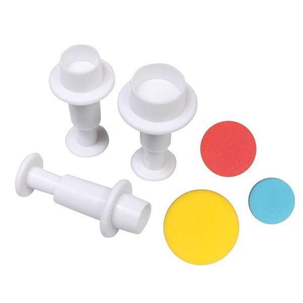 Cake Star Plunger Cutters -ROUND/CIRCLES - Σετ 3 τεμ κουπ πατ Κύκλοι με Εκβολέα