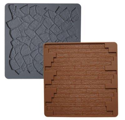 Wilton Silicone Mould -BRICK & STONE -Καλούπι σιλικόνης τούβλο και πέτρα