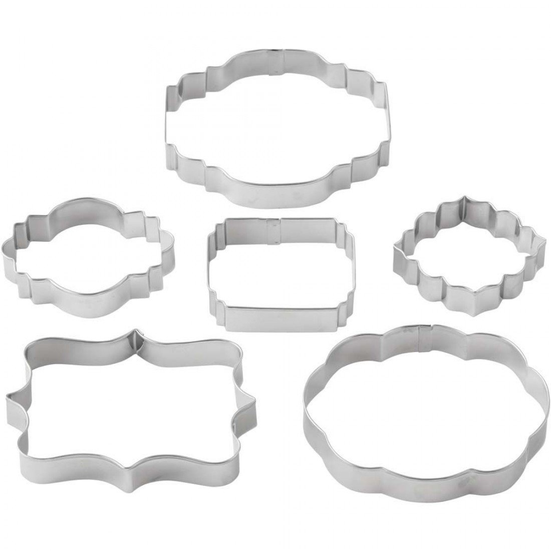 Wilton Cookie Cutter Set of 6 -GEOMETRIC FRAME/PLAQUE - Σετ 6τεμ Γεωμετρικά κουπ πατ Κορνίζες/πλάκες