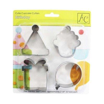 SALE!!! Autumn Carpenter BIRTHDAY Cupcake And Cookie Cutters -Κουπ πάτ με Θέμα Χαρούμενα Γενέθλια 4 τεμ