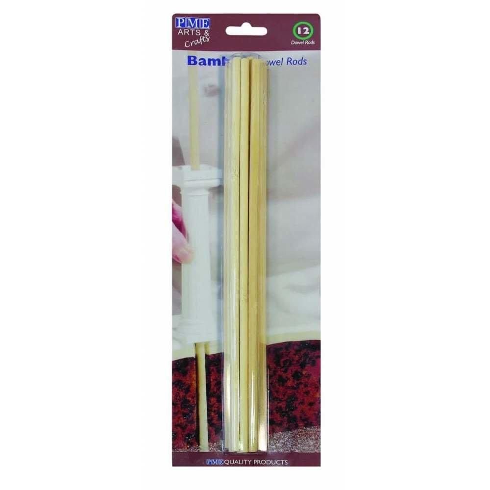 PME Dowels -Wooden Bamboo - Σετ 12τεμ Ξύλινες Κολώνες Στήριξης από Μπαμπού 31εκ