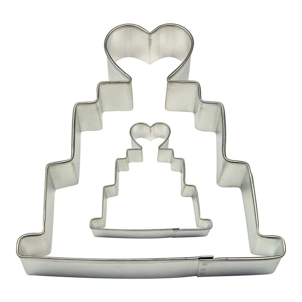 PME Cookie Cutters -Set of 2 -WEDDING CAKES -Σετ 2τεμ Κουπ πατ Γαμήλια Τούρτα