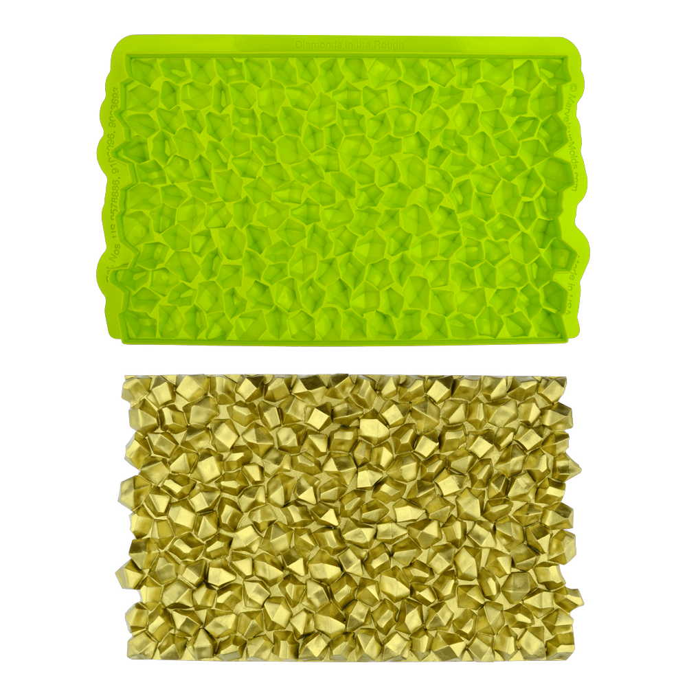 Marvelous Molds SIMPRESS Embossing Mat -DIAMONDS IN THE ROUGH ROCK CANDY -Ανάγλυφο Πατάκι Σιλικόνης Ακατέργαστα Διαμάντια