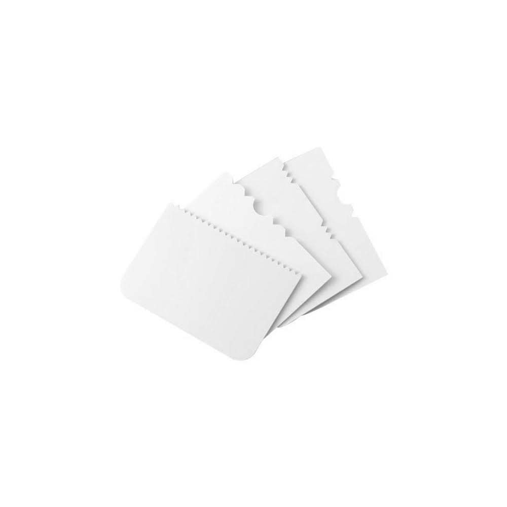 PME Scrapers -Set of 4 -PATTERNED - Σετ 4τεμ Σπάτουλα Ξύστρα Διαφόρων Σχεδίων