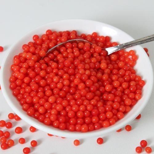 FunCakes Sugarballs -4mm RED 80g - Ζαχαρωτά Μπιλίτσες/Πέρλες Κόκκινες