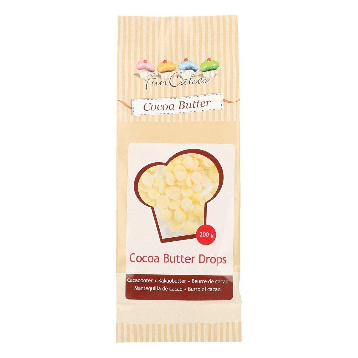 FunCakes Cocoa Butter Drops 200γρ - Βούτυρο Κακάο