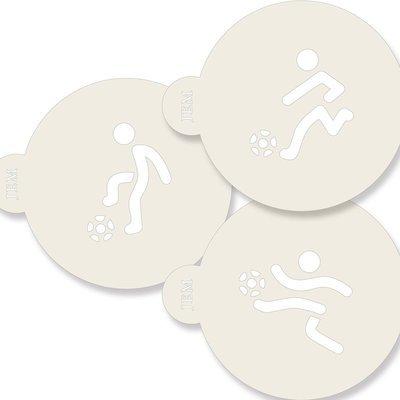 JEM Stencil -Set Of 3 FOOTBALL Designs -Σετ 3τεμ Στένσιλ Ποδόσφαιρο