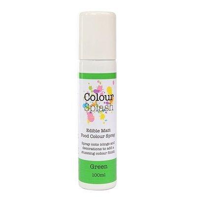 SALE!!! Colour Splash SPRAY -MATT GREEN 100ml Βρώσιμο Σπρέϊ με Χρώμα -Πράσινο Ματ ΑΝΑΛΩΣΗ ΚΑΤΑ ΠΡΟΤΙΜΗΣΗ 4/21