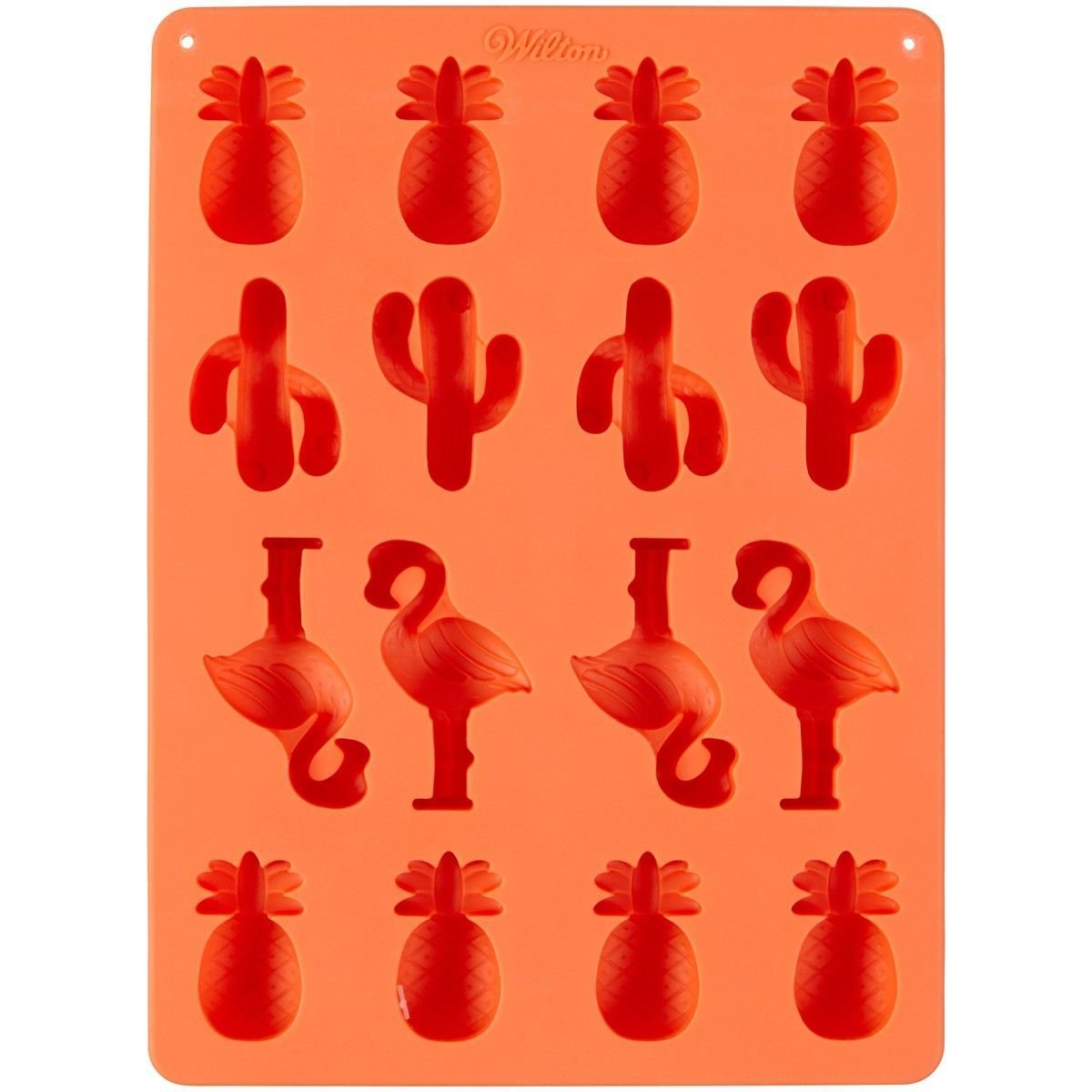 Wilton Silicone Candy Mould -PINEAPPLE, CACTI, FLAMINGO -Καλούπι Σιλικόνης ανανάς, κάκτος, φλαμίνγκο