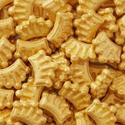 Wilton Sprinkles -GOLD CROWNS 56g - Βρώσιμα Ζαχαρωτά Χρυσά Στέμματα