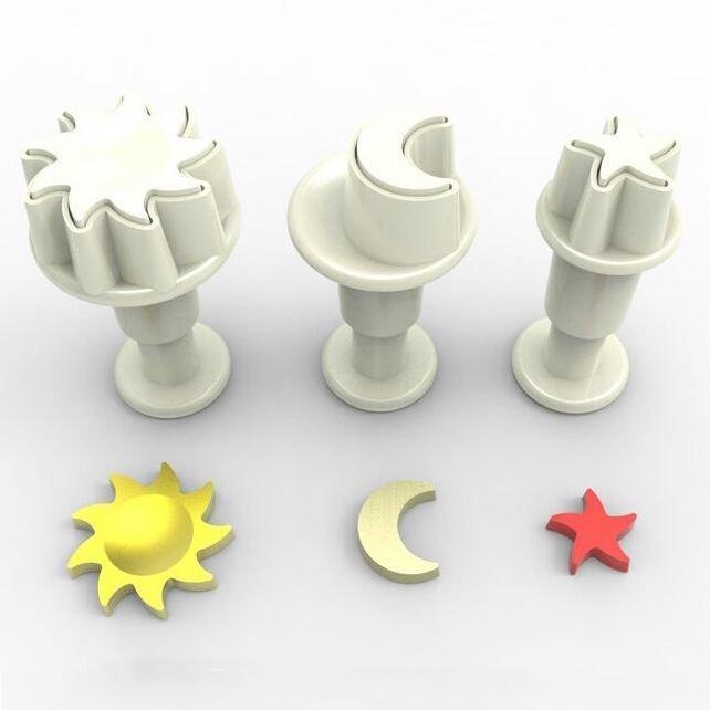 SALE!!! Dekofee Plunger Cutter -MINI SKY - Σετ 3τεμ κουπ πατ με Εκβολέα Μίνι Ουρανός