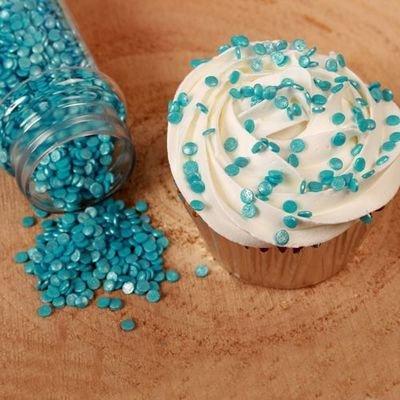 FunCakes Confetti Sprinkles -MINI METALLIC BLUE -Κονφετί Μπλε Μεταλιζέ 4χιλ 70γρ ∞