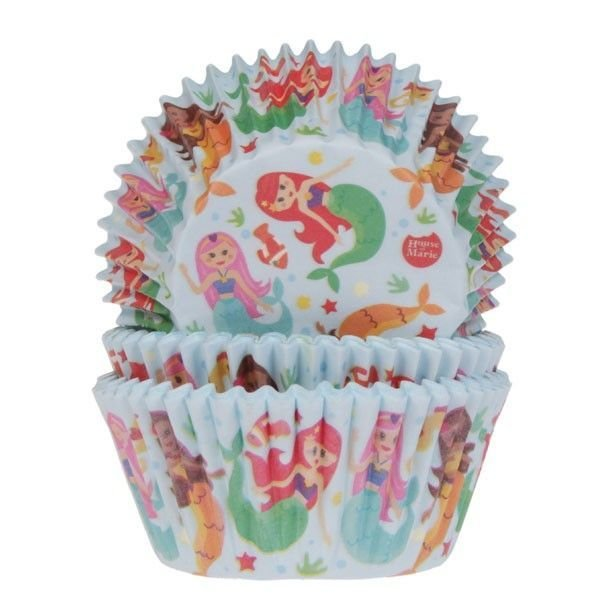 SALE!!! House of Marie Cupcake Cases -MERMAID -Θήκες Ψησίματος -Γοργόνα 50 τεμ