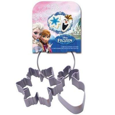 Cookie Cutter -Set of 2 -FROZEN -Olaf & Snowflake -Σετ 2τεμ κουπ πάτ Ντίσνεϊ Φρόζεν -Όλαφ & Χιονονιφάδα ∞