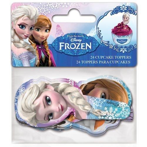 Paper Cupcake Toppers Frozen -Τόπερ για Κάπκεϊκ Φρόζεν 24τεμ -8.5x3.5εκ ∞
