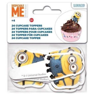 Paper Cupcake Toppers Minion -Τόπερ για Κάπκεϊκ Μινιόν - 24τεμ - Περίπου 8.5x3.5εκ ∞