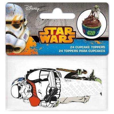 Paper Cupcake Toppers Star Wars -Τόπερ για Κάπκεϊκ Πόλεμος των Άστρων 24τεμ -8.5x3.5εκ ∞