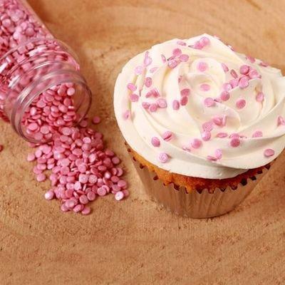 FunCakes Confetti Sprinkles -MINI METALLIC PINK -Κονφετί Ροζ Μεταλιζέ  4χιλ 70γρ
