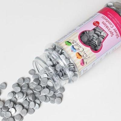 FunCakes Confetti Sprinkles -METALLIC SILVER -Κονφετί Ασημί Μεταλιζέ 60γρ