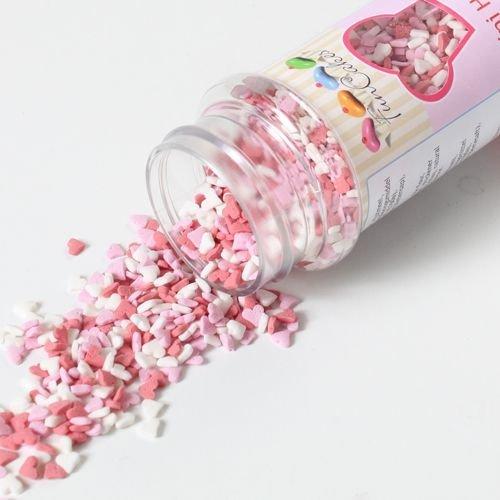 FunCakes Sprinkles -HEARTS -MINI PINK, RED & WHITE -Μείγμα Ζαχαρωτών Μίνι Ροζ, Κόκκινες & Λευκές Καρδούλες 60γρ