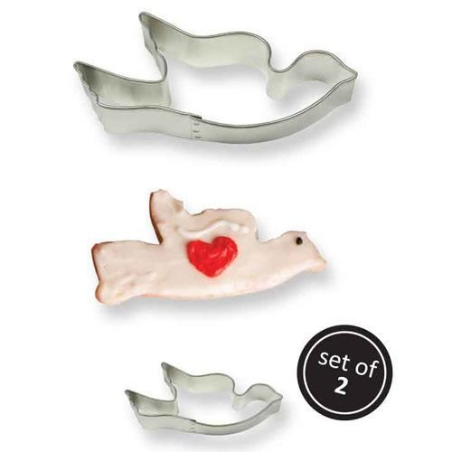 PME Cookie Cutters -Set of 2 -DOVES -Σετ 2τεμ Κουπ πατ Περιστέρι