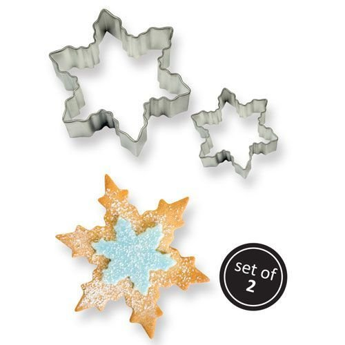 PME Cookie Cutters -Set of 2 -SNOWFLAKES -Σετ 2τεμ Κουπ πατ Χιονονιφάδες