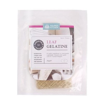 SALE!!! Squires Kitchen -Essentials Leaf Gelatine - Φύλλα ζελατίνης 10τεμ ΑΝΑΛΩΣΗ ΚΑΤΑ ΠΡΟΤΙΜΗΣΗ 06/2022