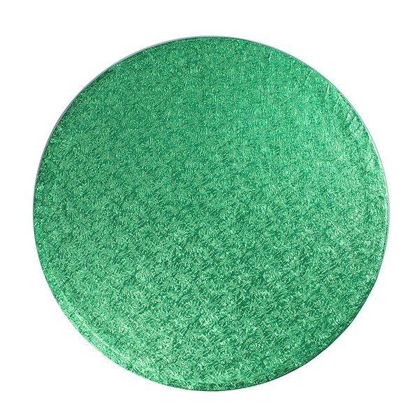 "Cake Drum Round -GREEN 30cm (12"") - Πράσινη Στρογγυλή Βάση 30εκ - Πάχος 1,3εκ"
