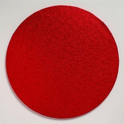Cake Drum Round -RED 30cm (12